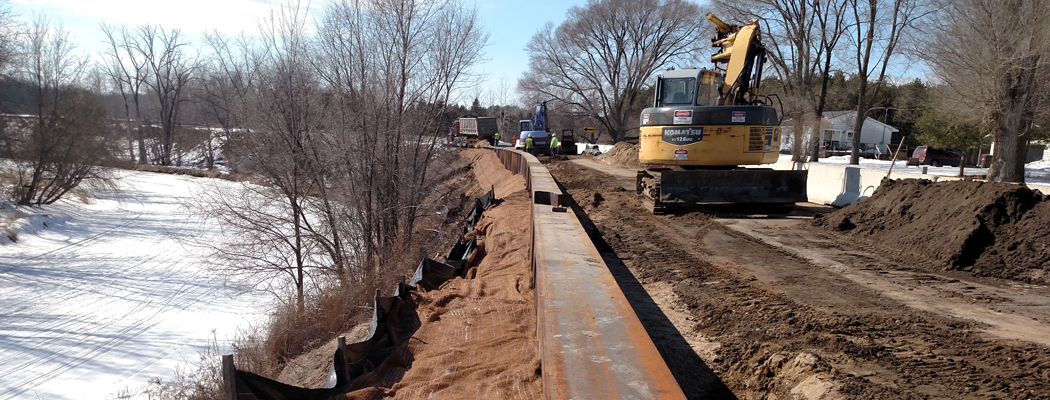 imgWest Pine River Road Slope Stabilization 2015